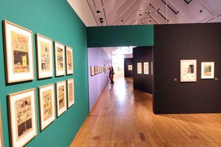 Pioniere des Comic. Eine andere Avantgarde, Ausstellungsansicht.  © massow-picture
