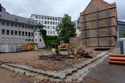 Der Baugrund nach Abriss des ehemaligen Buchhauses des Börsenvereins des Deutschen Buchhandels. Foto: © massow-picture