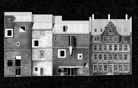 Deutsches Romantik-Museum Fassade mit Goethe Haus © Christoph Mäckler Architekten