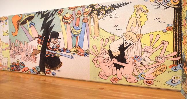 Cliff Sterrett, hier Ausschnitt aus Polly and Her Pals ab 1912.  Er nahm quasi die Pop-Art vorweg. Foto: © massow-picture