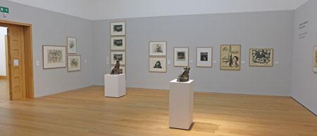 """Raum 1 der Ausstellung """"Kollwitz und Barlach. Im Tode vereint"""" Foto: © massow-picture"""