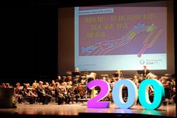 """Uraufführung """"Panta rhei"""", vielleicht einer neuen Rheinhessen-Hymne, des Komponisten Enjott Schneider durch das Philharmonische Staatsorchester Mainz unter der Leitung von Generalmusikdirektor Hermann Bäumer. © massow-picture"""