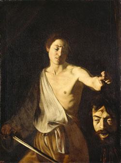 Abbildung: Kopie nach Caravaggio, David mit dem Haupt des Goliath, 1. Hälfte 17. Jahrhundert. Kassel, Museumslandschaft Hessen Kassel, Gemäldegalerie Alte Meister