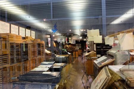 Druckerladen des Gutenberg-Museums.