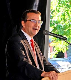 Jürgen Häfner, Geschäftsführer Lotto-Rheinland-Pfalz. Dr.-Ing. Markus Fritz von Preuschen. Foto: Diether v. Goddenthow © massow-picture