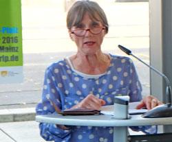 Vorsitzendes des BBK Rheinland-Pfalz im Bundesverband e.V  Sylvia Richter-Kundel hofft auf gute Gewinne für Besucher und  Künstler. Foto: Diether v. Goddenthow © massow-picture