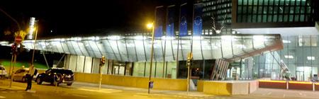 Besuchereingang der EZB. Sonnemannstraße 20, 60314 Frankfurt am Main. Foto: Diether v. Goddenthow © atelier-goddenthow