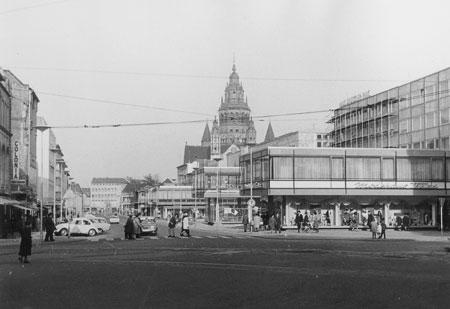 Stadtansicht von 1965 © Landesmuseum Mainz