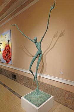 Helge Leiberg. Abheben 2012, Bronze, 270 x 220 x 100 cm Foto: Diether v. Goddenthow