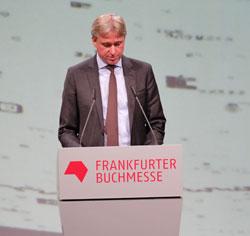 Jürgen Boos Direktor der Frankfurter Buchmesse. Foto: Diether v. Goddenthow © atelier-goddenthow