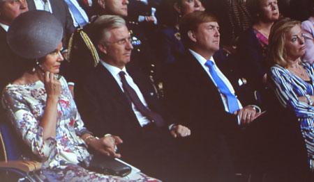 v.l.n.r. Ihre Majestäten Paola und Philippe von Belgien, Willem von Niederlanden. Foto: Diether v. Goddenthow © atelier-goddenthow