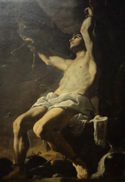 Mattia Preti (1613 - 1699) Heiliger Sebastian um 1656 Öl auf Leinwand  Neapel, Museo di Capodimonte, Foto: Diether v. Goddenthow