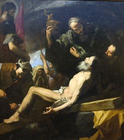 Jusepe de Ribera (1591.1652)  Das Martyrium des heiligen Andreas 1628. Budapepest, Museum der Bildenden Kunst. Foto: Diether v. Goddenthow