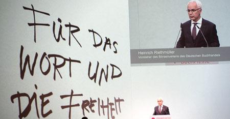 Heinrich Riethmüller, Vorsteher des Börsenvereins des Deutschen Buchhandels.Foto: Diether v. Goddenthow © atelier-goddenthow