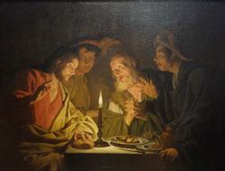 Matthias Stomer (um 1600 - nach 1652). Das Abendmahl in Emmaus um 1633-1635 Öl auf Leinwand. Neapel, Museo die Capodimonte. Foto: Diether v. Goddenthow