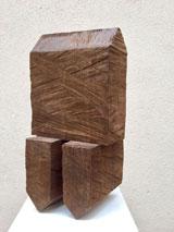 """Werner Pokorny, """"Haus auf zwei Häusern"""",  2010, Cortenstahl, 51 x 28 x 21,5 cm, © Galerie Rother und Winter"""