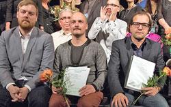 Preistäger des deutschen Kurzfilmwettbewerbs. Foto: Exground Filmfestival