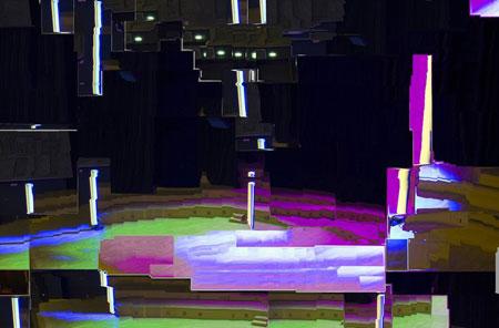 Florian Hecker, A Script for Machine Synthesis, 2013-2016 Installationsansicht/installation view Studio 104, Maison de la Radio, Paris. Courtesy the artist, Sadie Coles HQ, London and Galerie Neu, Berlin. Foto/photo: © 2015, Marc Domage.