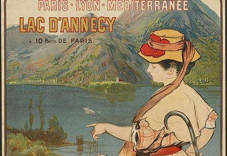 Ausschnitt aus: Albert Besnard und Robert Besnard, Lac D Annecy Talloires.