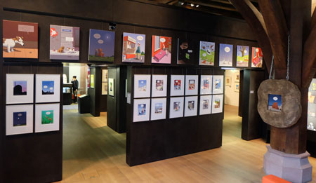 Haderer-Werke im Erdgeschoss.  Foto: Diether v. Goddenthow © atelier-goddenthow