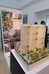 Hochinteressante Einblicke gewährt das Modell von Housing & Development Board von Singapur. Foto: Diether v. Goddenthow © atelier-goddenthow