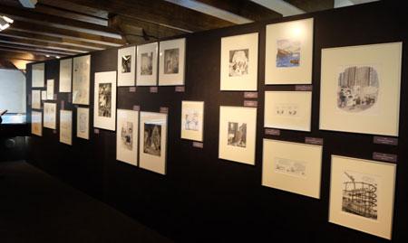 Wand der Cartoon-Klassiker.  Foto: Heike v. Goddenthow © atelier-goddenthow