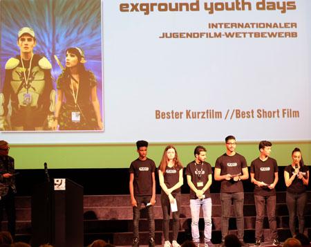 Mitglieder der Jugendjury im Internationalen Jugendfilm-Wettbwerb. Foto: Diether v Goddenthow