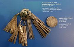 Probiernadelsatz für Silber des Münzbeamten José Caballero Spanien, nach 1715 im neuen Geldmuseum der Deutschen Bundesbank. Foto: Diether v. Goddenthow