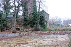 Areal der  ans Exotikum angrenzenden  projektierten Pinguin-Anlage im Frankfurter Zoo.