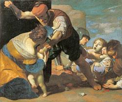 Abbildung: Massimo Stanzione (1585 – 1656) Der bethlehemitische Kindermord, 1630–1635 Graf Harrach'sche Familiensammlung, Schloss Rohrau, Österreich Foto: © Graf Harrach'sche Familiensammlung, Schloss Rohrau, Österreich