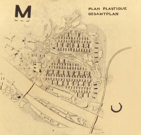 Dieser Plan zeigt sehr anschaulich das Ausmaß des Neuaufbau von Mainz als Idealstadt der Zukunft. Mainz wäre eine schrecklich sterile Trabantenstadt ohne eigentliches Zentrum im traditionellen Sinne geworden. Foto: Diether v. Goddenthow,