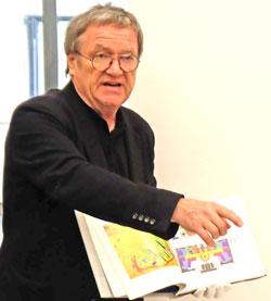 Prof. Durth beschäftigt sich bereits seit Anfang der 1980er-Jahre mit dem Wiederaufbau in der deutschen Nachkriegszeit. Foto: Diether v. Goddenthow