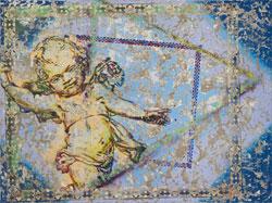 Kristina Girke, Der Genius, 2012, Öl und Lack auf Leinwand, 180 x 240 cm