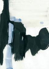 Iris Lehnhardt, paper works 16-1, Acryl und Tusche auf Papier, 2016