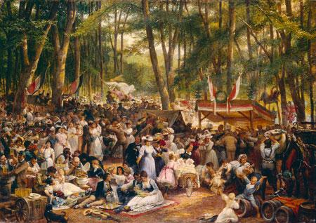 Heinrich Hasselhorst Der Wäldchestag, 1870er Jahre © Historisches Museum Frankfurt am Main