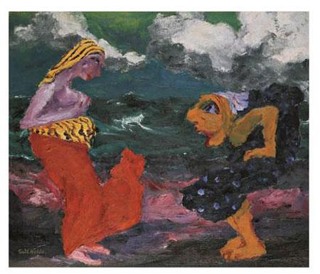 Emil Nolde. Begegnung am Strand. Gemälde 1920 © Nolde Stiftung Seebüll