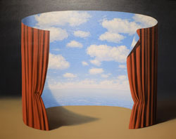 René Magritte, Les Mémoires d'un saint, 1960, Öl auf Leinwand, 80 x 99,7 cm, The Menil Collection, Houston © VG Bild-Kunst, Bonn 2017 Bild  Foto: Diether v. Goddenthow