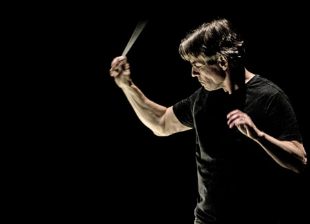 """Musikfest """"Fremd bin ich …""""Esa-Pekka Salonen dirigiert das Philharmonia Orchestra London mit Pekka Kuusisto 24.09.2017 © Minna Hatinen, Finnish National Opera and Ballet."""