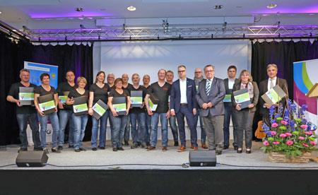 Gruppenfoto der Akteure von Rheinhessen Marketing und dem Projektbüro Bartenbach  © Foto: BARTENBACH AG