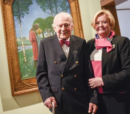 Der Wiesbadener Mäzen Ferdinand Wolgang Neess mit seiner Frau Danielle Neess Foto © Museum Wiesbaden