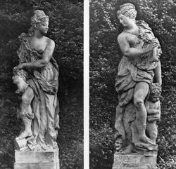 Bildhauerkunst und Schauspielkunst Foto aus dem Garten Mumm -® HMF