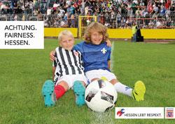 Respekt im Sport.  Foto: Hessische Landesregierung