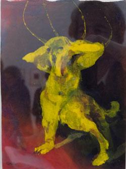Emil Nolde 1867 - 1956 Ohne Titel (Groteskes Tier in Hundegestalt. Nolde Stiftung Seebüll. Foto: Diether v. Goddenthow