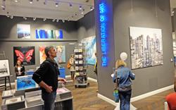 Lumas Editionsgalerie, war das erste Mal dabei. Foto: Diether v. Goddenthow