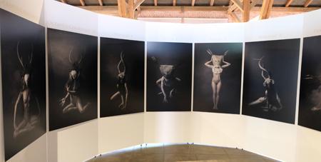 """Impression der Foto-Sonderausstellung """"Kult! Götterwelt – Menschenwelt!"""" von Viona Ielegems,jetzt bis zum 25.06.2017. Foto:. Diether v. Goddenthow"""