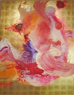 Robert Weber. Tu solus, 2010/2016 Malerei auf Goldgrund auf Holz 200 x 160 cm. Foto: Diether v. Goddenthow