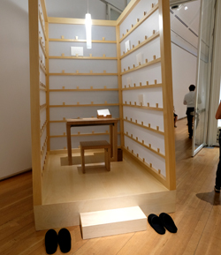 Lee Mingwei, The Letter Writing Project, 1998/2014, Mixed media, interaktive Installation. Foto: Diether v. Goddenthow