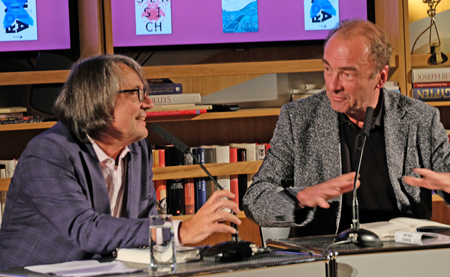 Robert Menasse mit 3-Sat-Moderator Gert Scobel. Foto: Diether v. Goddenthow