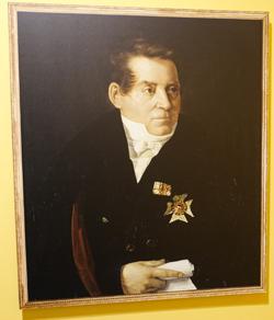 August Wilhelm von Schlegel, Reproduktion von Adolf Hohneck nach Öl auf Leinwand um 1830, SLUB Dresden Foto: Diether v. Goddenthow