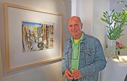 Die Gemälde von Michael Heindorff zeichnen sich durch ihre Verbindung, durch die für deutsche Kunst charakteristische Akribie und der gegensätzlichen Lockerheit aus.Foto: Diether v. Goddenthow